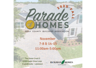 2020 Fall Parade of Homes: November 7 & 8 and 14 & 15, 11am - 5pm